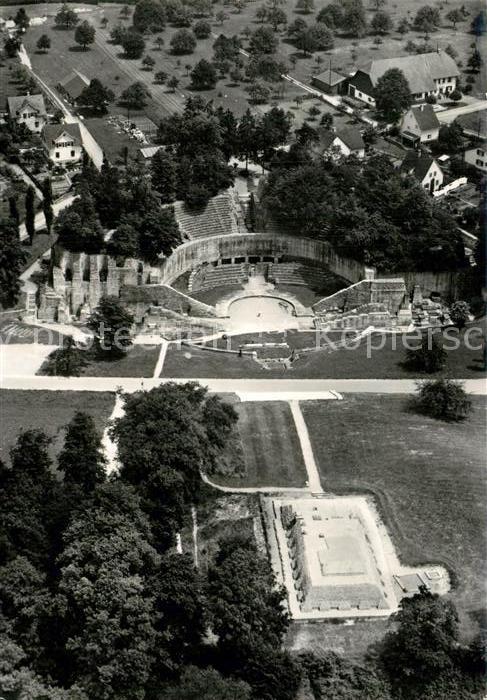 AK / Ansichtskarte Augst Augusta Raurica Roem Theater und Tempel auf Schoenbuehl Augst