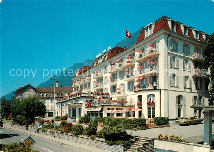 AK / Ansichtskarte Gersau_Vierwaldstaettersee Hotel Mueller Gersau_Vierwaldstaettersee
