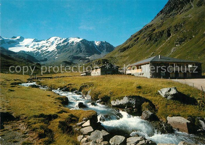 AK / Ansichtskarte Davos_GR Dischmatal Piz Grialetsch Scalettahorn Berghaus Duerrboden Davos_GR