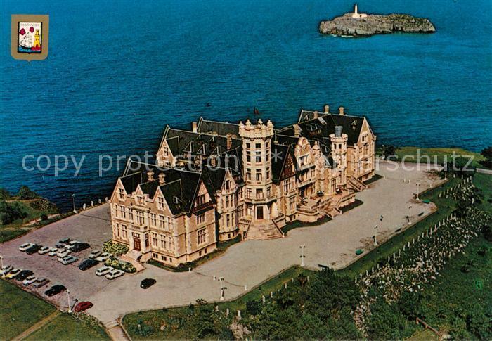 AK / Ansichtskarte Santander Fliegeraufnahme Palacio de la Magdalena Santander