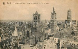 AK / Ansichtskarte Gand_Belgien Panorama Eglise Saint Nicolas le Beffroi Cathedrale Saint Bavon Gand Belgien