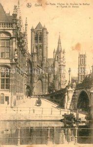 AK / Ansichtskarte Gand_Belgien La Poste Eglise Saint Nicolas Beffroi Cathedrale Saint Bavon Gand Belgien