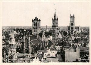 AK / Ansichtskarte Gand_Belgien Panorama Eglise Saint Nicolas Beffroi Cathedrale Saint Bavon Gand Belgien
