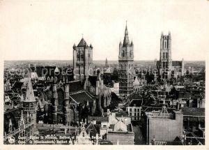 AK / Ansichtskarte Gand_Belgien Eglise Saint Nicolas Beffroi Cathedrale Saint Bavon Gand Belgien