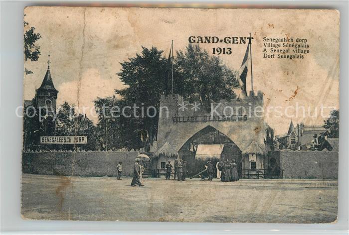 AK / Ansichtskarte Gand_Belgien Exposition Internationale et Universelle Village Senegalais Gand Belgien