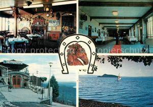 AK / Ansichtskarte Montefiascone Ristorante Alla Cavalla Gast und Speiseraum Eingang Panorama Montefiascone