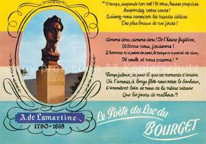 AK / Ansichtskarte Bourget_Seine Saint Denis_Le A. de Lamartine Le Poete du Lac du Bourget Bourget_Seine Saint Denis