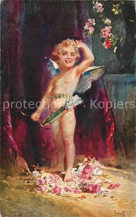 AK / Ansichtskarte Kuenstlerkarte Jodolfi Amors Sieg
