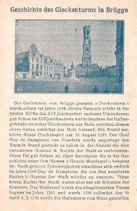 AK / Ansichtskarte Bruegge_West Vlaanderen Glockenturm Geschichte Bruegge_West Vlaanderen