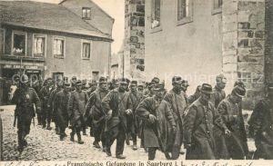 AK / Ansichtskarte 097_Regiment_IR_097_Infanterie_Saarburg_Lothringen Kriegsgefangene Franzosen Marsch