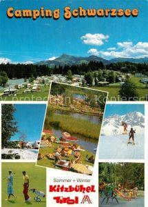 AK / Ansichtskarte Kitzbuehel_Tirol Camping Schwarzsee Golfplatz Kinderspielplatz Wintersport Alpen Kitzbuehel Tirol