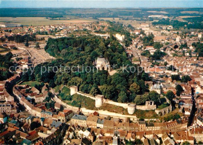 AK / Ansichtskarte Dreux Vue aerienne de la ville avec Chapelle Royale Collection Couleurs et Lumiere de France Dreux