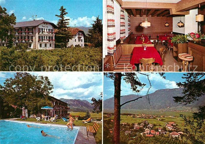 AK / Ansichtskarte Andrian Pension Zeder Swimming Pool Landschaftspanorama Andrian