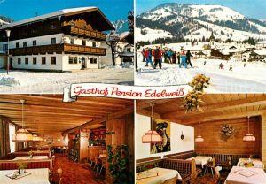 AK / Ansichtskarte Hochfilzen Gasthof Pension Edelweiss Wintersport Alpen Hochfilzen