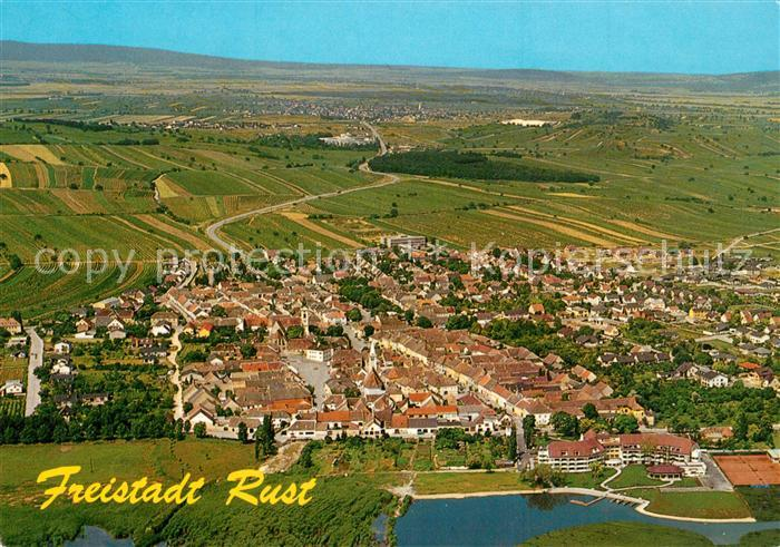 AK / Ansichtskarte Rust_Burgenland Fliegeraufnahme mit Neusiedlersee Rust_Burgenland