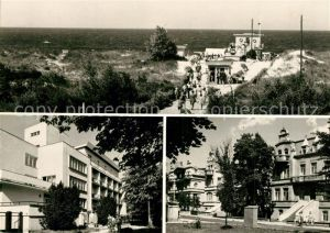 AK / Ansichtskarte Swinoujscie_Swinemuende Wejscie na plaze Dom wypoczynkow Ulica Orkana Swinoujscie Swinemuende