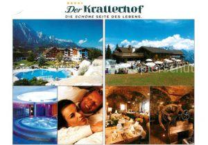 AK / Ansichtskarte Leogang Hotel Restaurant Krallerhof Swimming Pool Wellness Restaurant Leogang