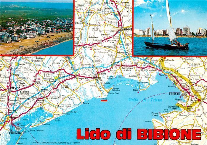 Ak Ansichtskarte Bibione Badeort Adriakueste Strand Segelboot