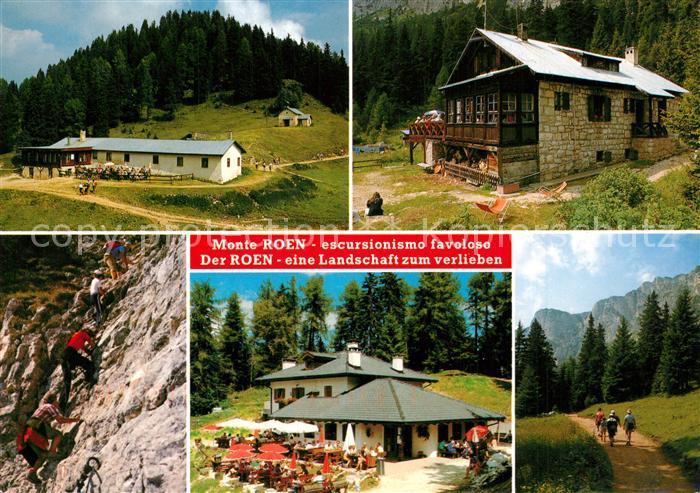 Klettersteig Roen : Ak ansichtskarte mendelpass wandergebiet monte roen roenalm