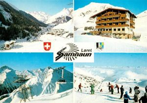AK / Ansichtskarte Laret Hotel Cresta Rustica Bergbahn Skipiste Wintersportplatz Fernsicht Alpenpanorama Laret
