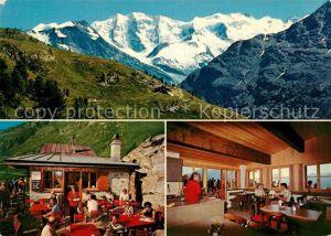 AK / Ansichtskarte Pontresina Restaurant Alp Languard Alpenpanorama Pontresina