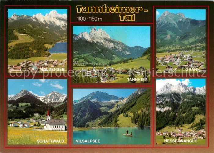Tannheimer Tal Karte.Ak Ansichtskarte Tannheim Tirol Ferienparadies Tannheimer Tal Vilsalpsee Alpenpanorama Tannheim Tirol