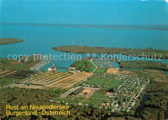 AK / Ansichtskarte Rust_Burgenland Seeanlage Rust Campingplatz Hafen Neusiedlersee Fliegeraufnahme Rust_Burgenland