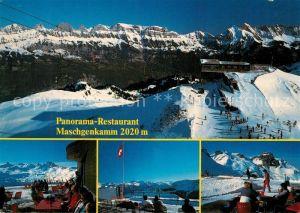 AK / Ansichtskarte Flumserberg_Flums Panorama Restaurant Maschgenkamm Wintersport Alpen Flumserberg Flums