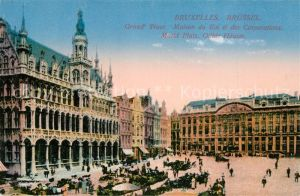 AK / Ansichtskarte Bruxelles_Bruessel Grand Place Maison du Roi et des Corporations Marktplatz Gildehaeuser Bruxelles_Bruessel