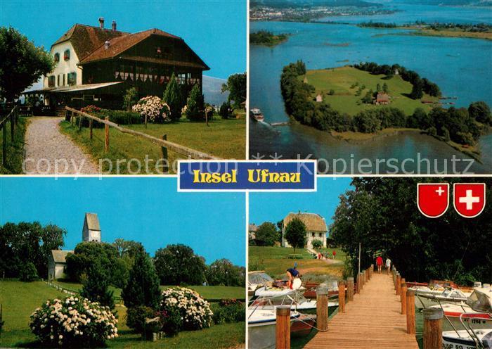 Ak Ansichtskarte Pfaeffikonsz Insel Ufnau Hotel Gaststaette