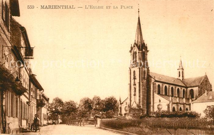 AK / Ansichtskarte Mariental_Helmstedt Eglise et la Place Mariental_Helmstedt