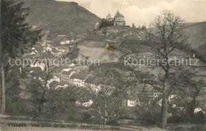 AK / Ansichtskarte Vianden Vue prise de la route de Diekirch Vianden