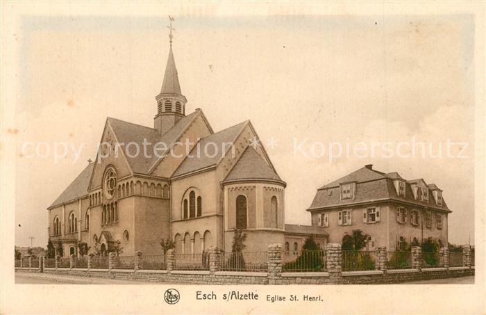 AK / Ansichtskarte Esch Sur Alzette Eglise St. Henri Esch Sur Alzette