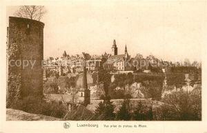 AK / Ansichtskarte Luxembourg_Luxemburg Vue prise du plateau du Rham Luxembourg Luxemburg