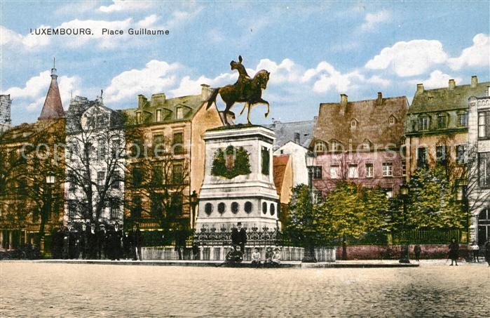 AK / Ansichtskarte Luxembourg_Luxemburg Place Guillaume Luxembourg Luxemburg