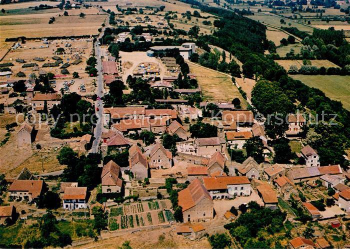 AK / Ansichtskarte Taize_Saone et Loire Village avec eglise romane Vue aerienne Taize Saone et Loire