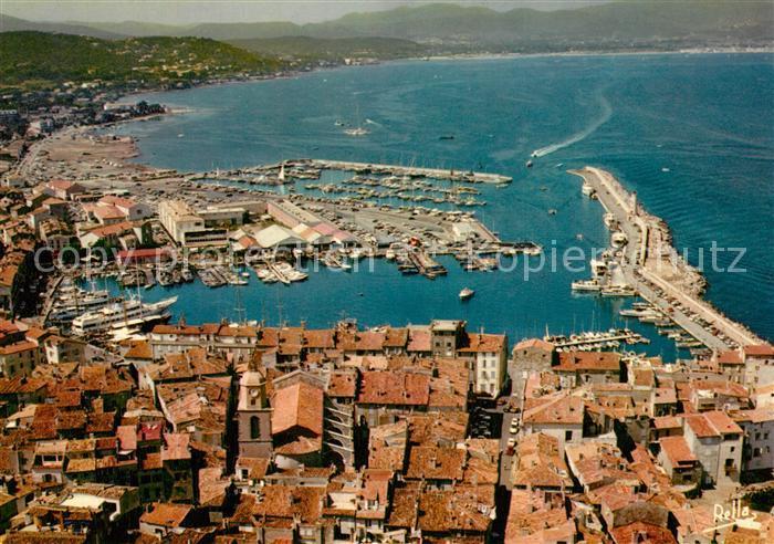 AK / Ansichtskarte Saint_Tropez_Var Vue generale aerienne et le nouveau port Saint_Tropez_Var