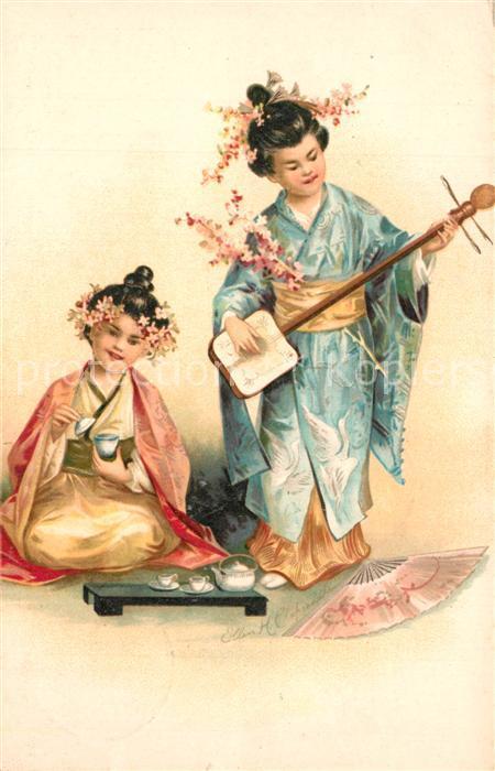 AK / Ansichtskarte Japan Musizierende Kinder Japan