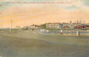 AK / Ansichtskarte Colombo_Ceylon_Sri_Lanka Galle Face Hotel an the Echelon Barracks Colombo_Ceylon_Sri_Lanka