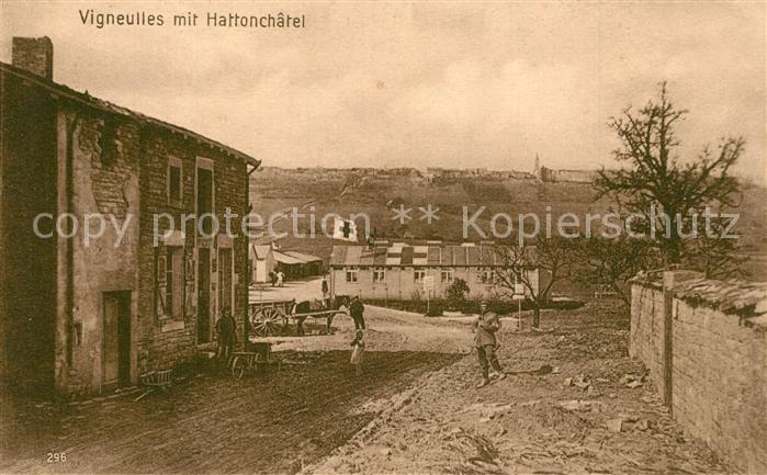 AK / Ansichtskarte Vigneulles les Hattonchatel Zerstoertes Dorf Lazarett Vigneulles les Hattonchatel