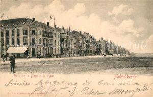 AK / Ansichtskarte Middelkerke Hotel de la Plage et la digue Middelkerke
