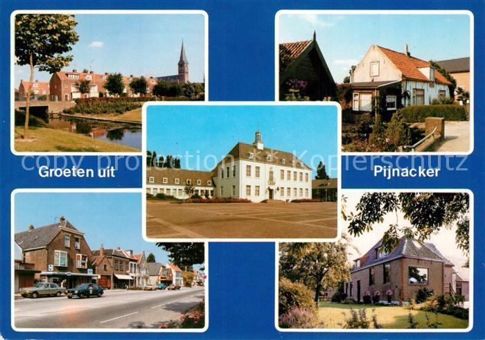 AK / Ansichtskarte Pijnacker Ortsmotive Hauptstrasse Platz Partie am Fluss Pijnacker