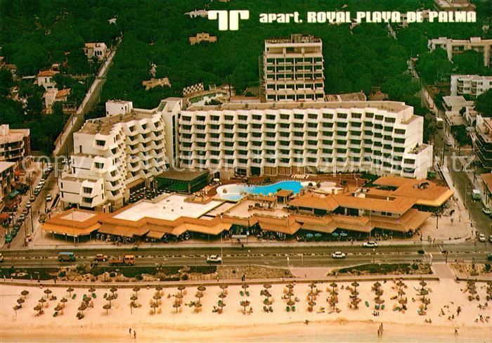 AK / Ansichtskarte Playa_de_Palma_Mallorca Apartamentos Royal vista aerea Playa_de_Palma_Mallorca