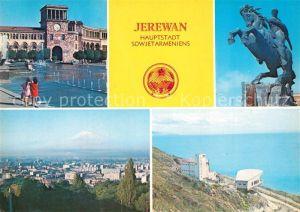 AK / Ansichtskarte Jerewan Leninplatz Dawid Sassunski Denkmal Sewansee Hauptstadt Sowjetarmeniens Jerewan