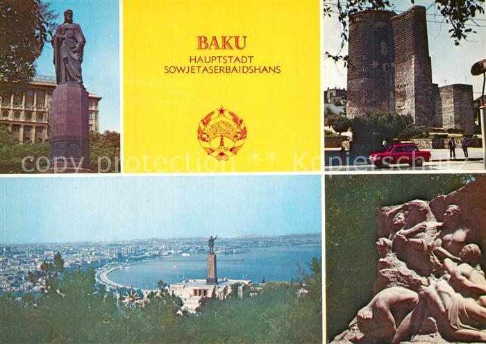 AK / Ansichtskarte Baku Nisami Denkmal Jungfrauenturm Denkmal 26 Kommissare von Baku Hauptstadt Sowjetaserbaidshans Baku