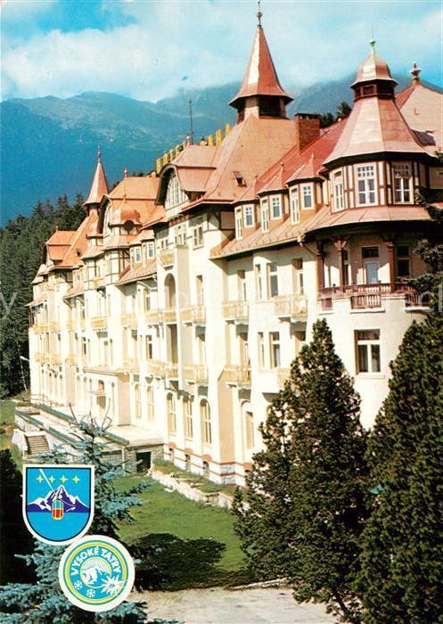 AK / Ansichtskarte Tatranska_Lomnica Grand Hotel Praha Vysoke Tatry Hohe Tatra Tatranska Lomnica