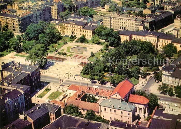 AK / Ansichtskarte Lublin_Lubelskie Plac Litewski widok z lotu ptaka Lublin Lubelskie