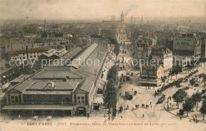 AK / Ansichtskarte Paris Panorama Gare de Vincennes et Gare de Lyon Paris