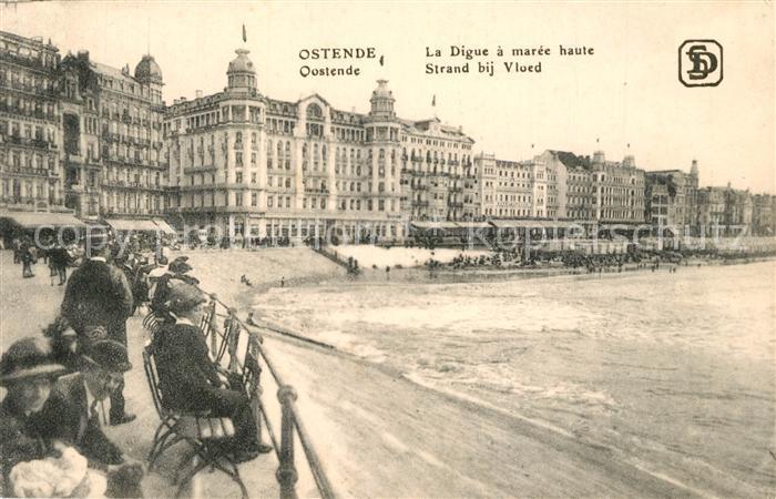 AK / Ansichtskarte Ostende_Oostende La Digue a maree haute