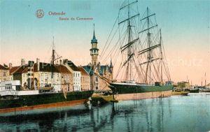AK / Ansichtskarte Ostende_Oostende Bassin du Commerce Voilier Serie 28 No. 6